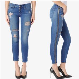 Hudson sid super skinny crop jeans pants bottoms